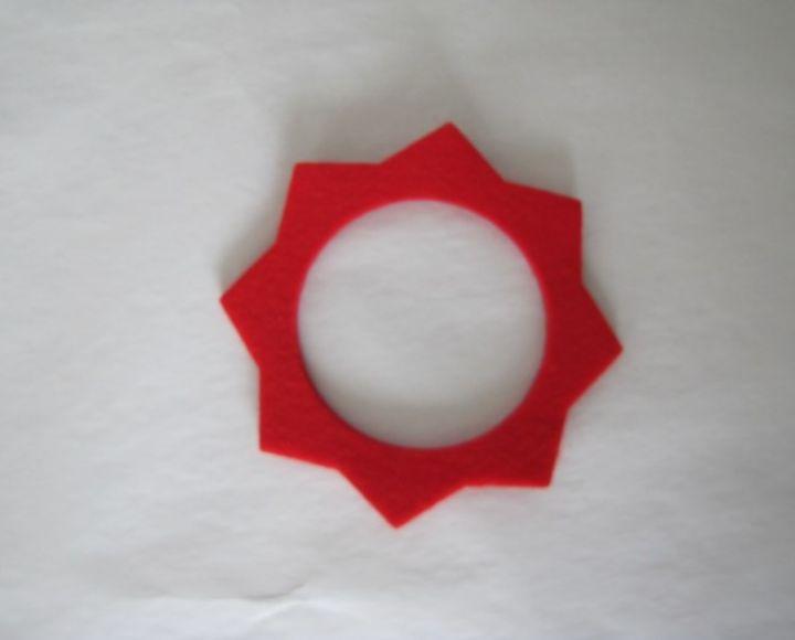 Filc okolo viečka nádrže, červený - Jawa, ČZ