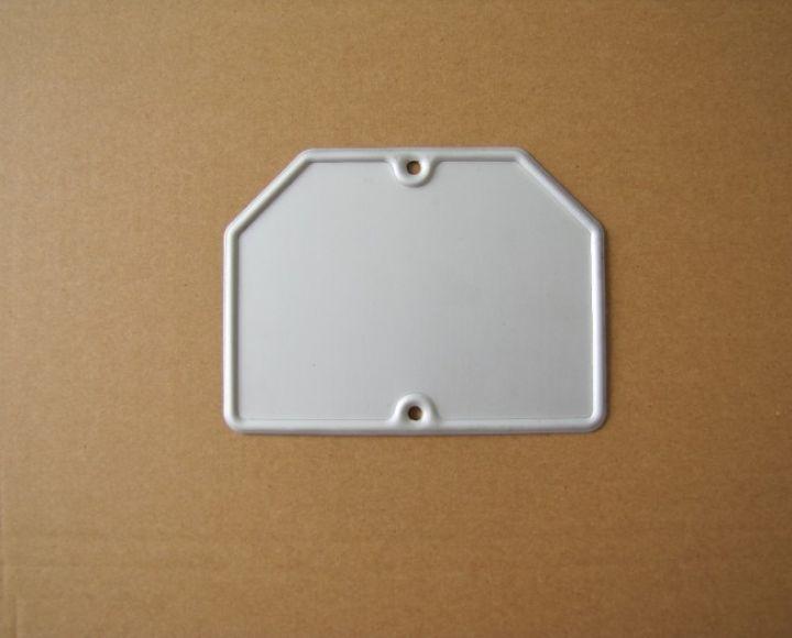 ŠPZ zadná, biela 14x10,50 cm č.1