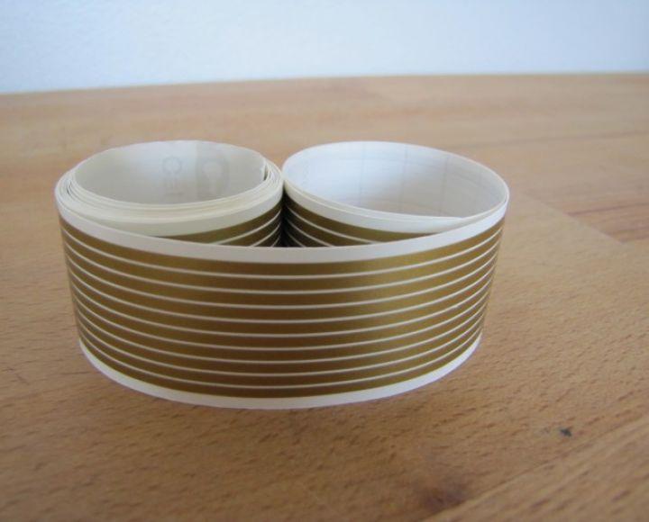 Samolepky, pásiky zlaté, 2,00 mm, dĺžka 150 cm