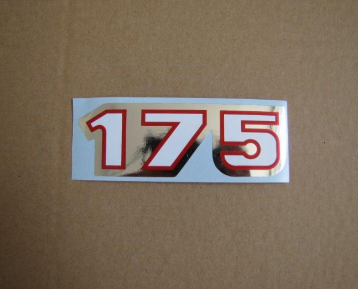 Samolepka 175, strieborno-červená, 107x37 mm - ČZ 175