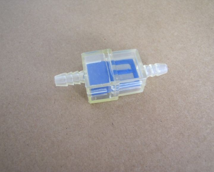 Filter paliva, hranatý, plast, modrý