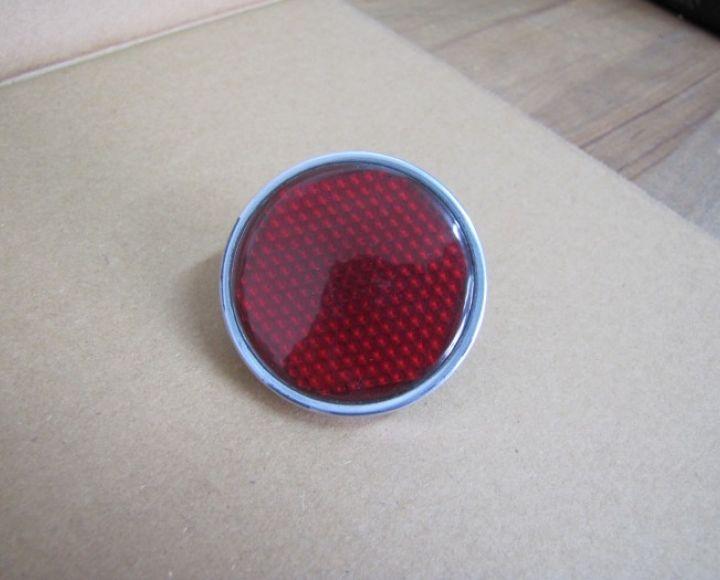 Odrazka červená 54 mm -  AL rámček, plast