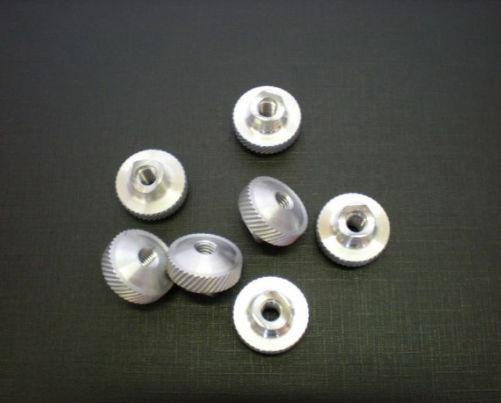 Nastavovacia matica brzdy M6, hliník