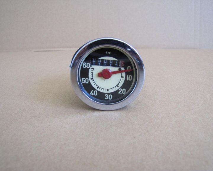 Tachometer do 60km, chrom rámček - Stadion S22,Jawetta