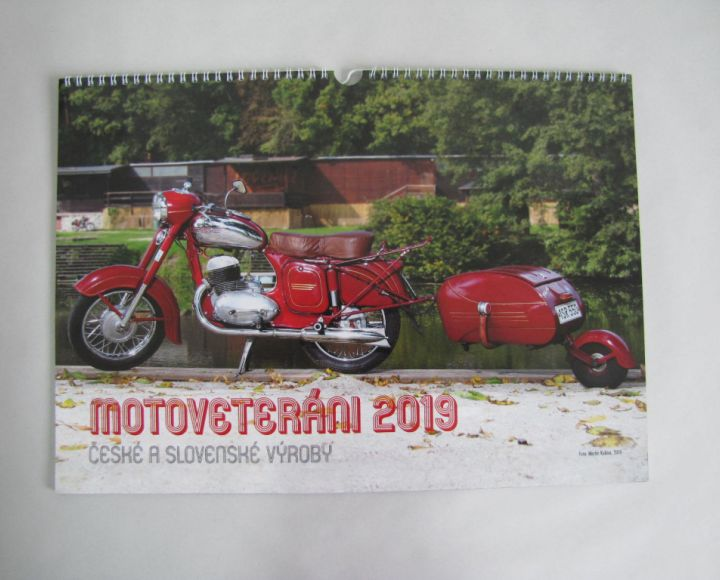 Kalendár 420x300mm, Motoveteráni 2019