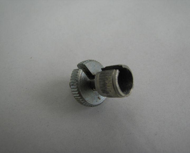 Skrutka nastavovania lanka, prerezaná M6x18mm, Zinok