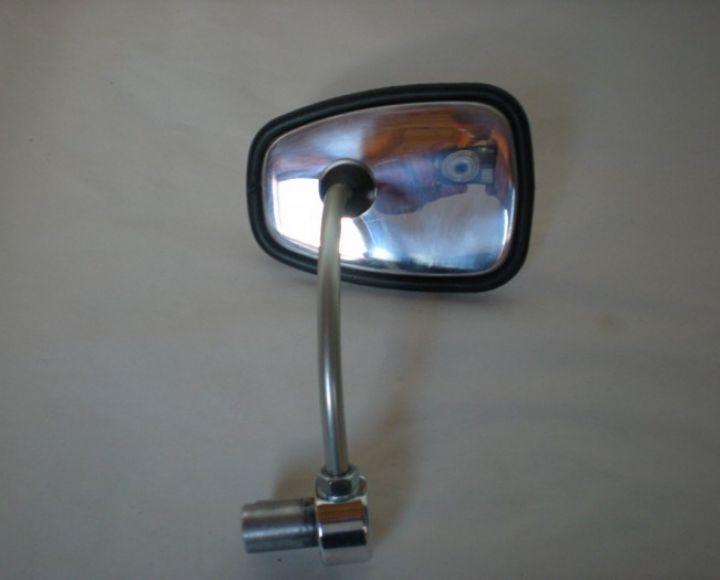 Zrkadlo oválne bočné, gumový lem