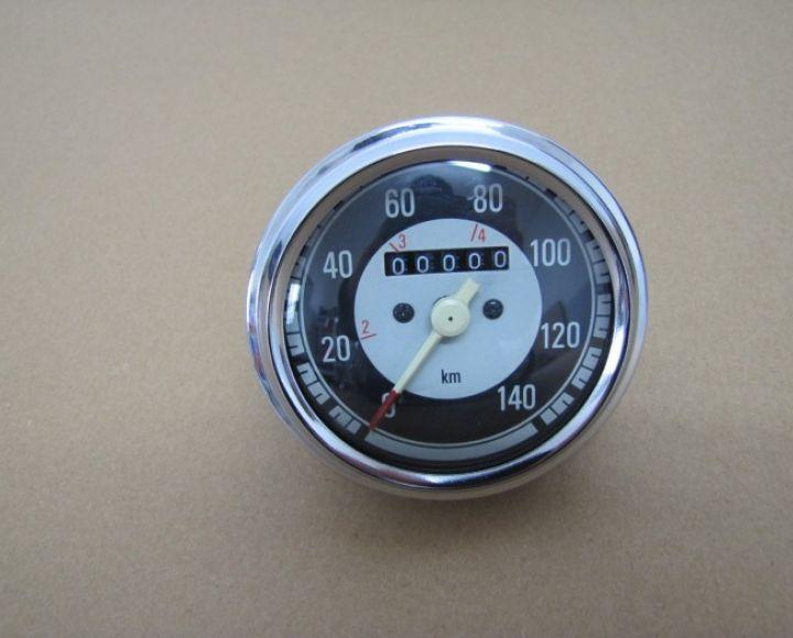 Tachometer- Jawa 140 km/h, čierny