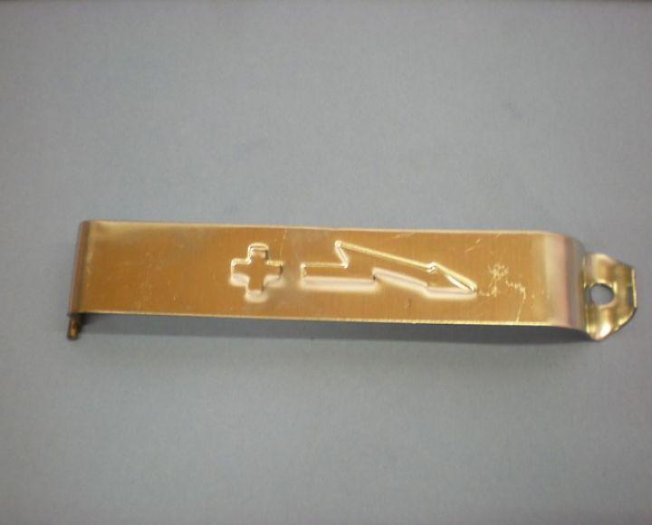 Držiak batérie s prelisom,nerez - Jawa Pérák,Kývačka