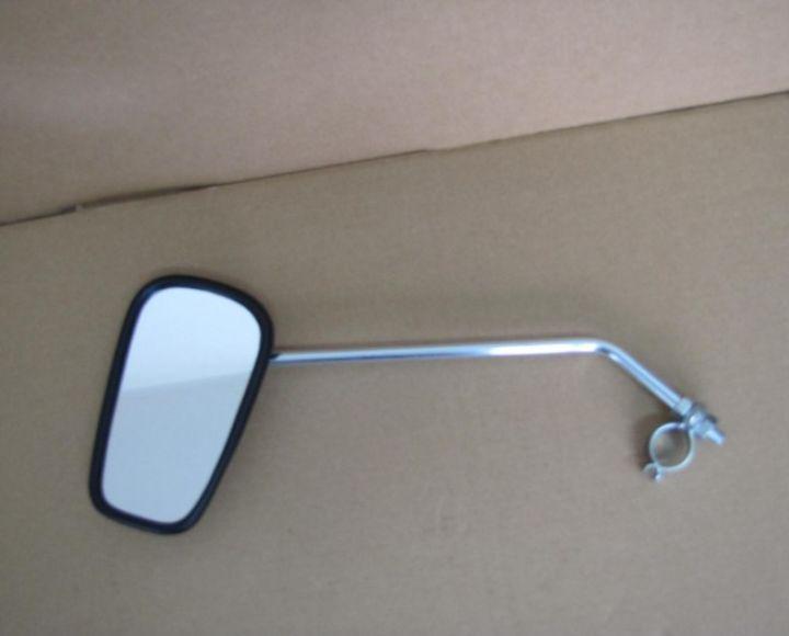 Zrkadlo oválne s tyčkou ľavé, lakované šedé, s objímkou č. 4